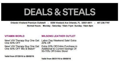 Deals Orlando Vineland Premium Outlet septiembre 2016 10