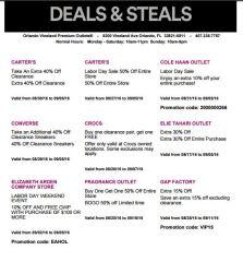 Deals Orlando Vineland Premium Outlet septiembre 2016 2