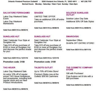 Deals Orlando Vineland Premium Outlet septiembre 2016 7