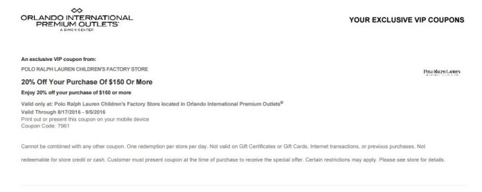 Orlando International Premium Outlet septiembre 2016 .10