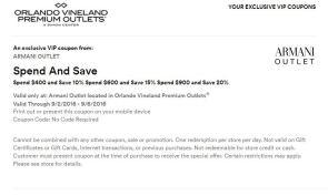 Orlando Vineland Premium Outlet septiembre 2016 .1