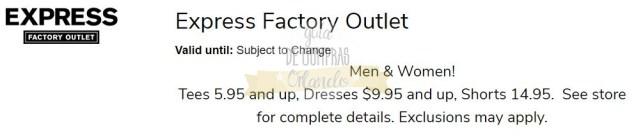 Cupones Lake Buena Vista Factory Stores 4th of July 9