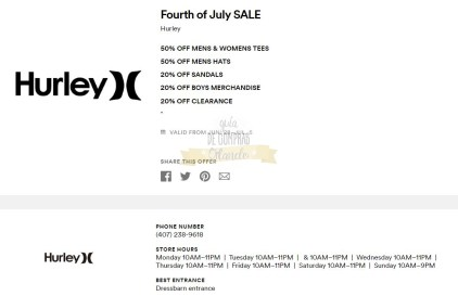Cupones Premium Outlets 4th of July 13