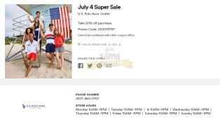 Cupones Premium Outlets 4th of July 18