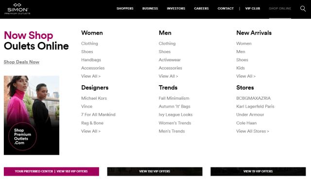 Now Shop Outlets Online 2