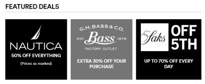 Now Shop Outlets Online DEALS