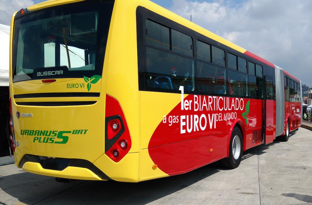El bus biarticulado Euro VI a GNV pasó la prueba