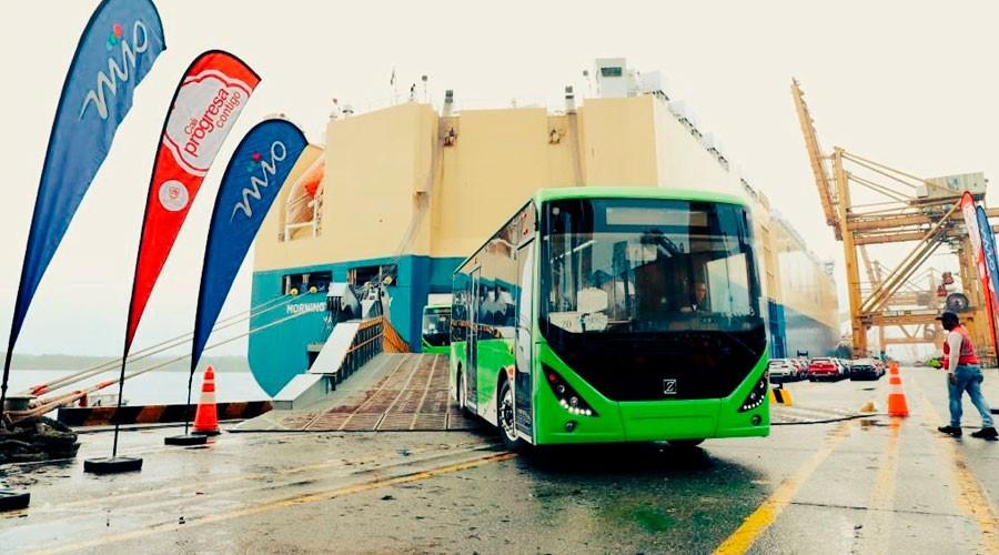 Llegaron 21 buses a GNV para el transporte de Cali