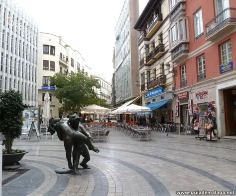 Plaza Uncibay, Centro de la Ciudad de Málaga.