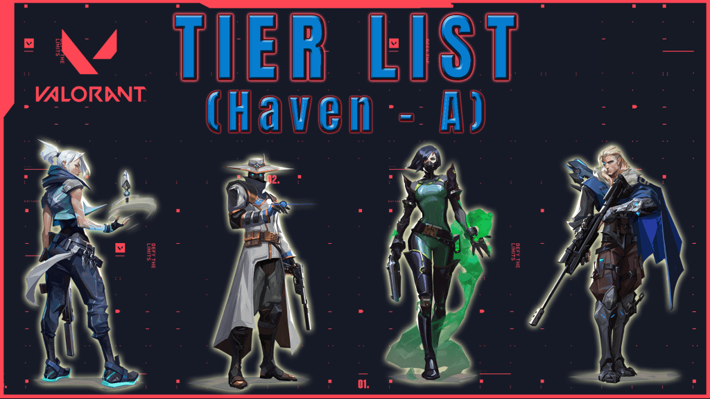 Tier list de Agentes Valorant Haven Tier A