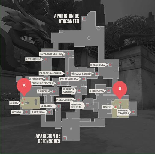 Mapa ASCENT Valorant