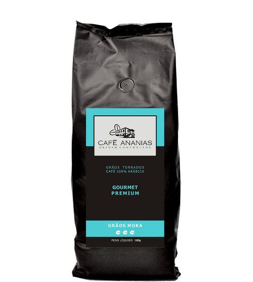 Café em grãos Ananias Moka de 500g por R$ 49,90.