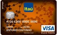 Cartão de crédito pré-pago Itaú pré-pago visa