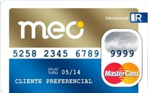 Cartão de crédito pré-pago meo