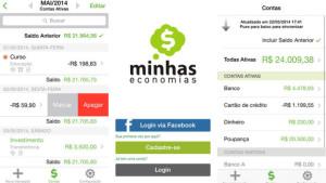 Finanças para celular: minhas economias