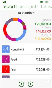 Finanças para celular: myfinance