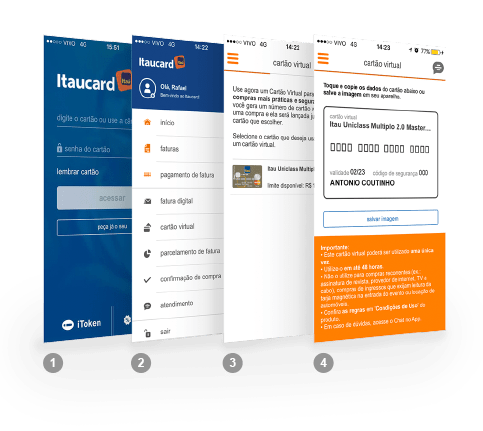 Cartão virtual itau para compras na internet