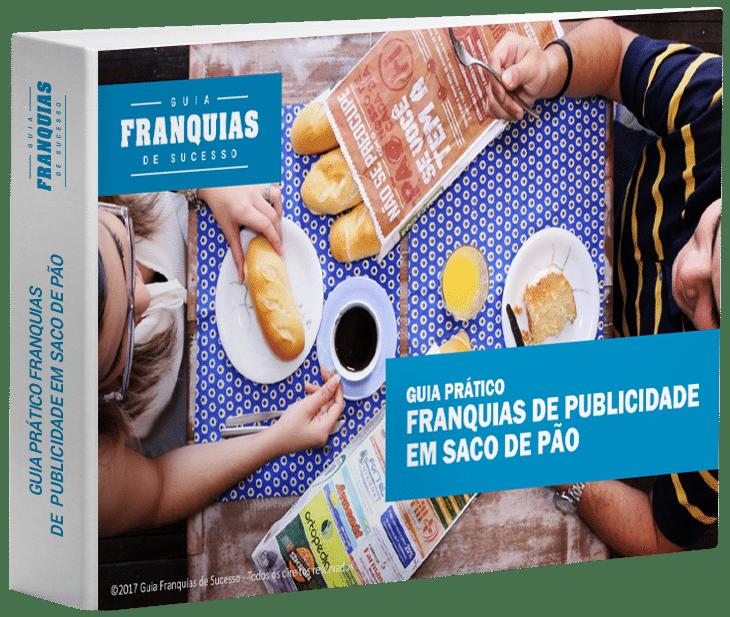 Mockup Ebook Guia prático franquias de publicidade em saco de pão V2