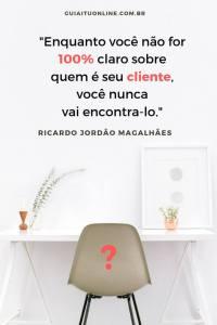 Frase vendedor Ricardo Jordão sobre clientes