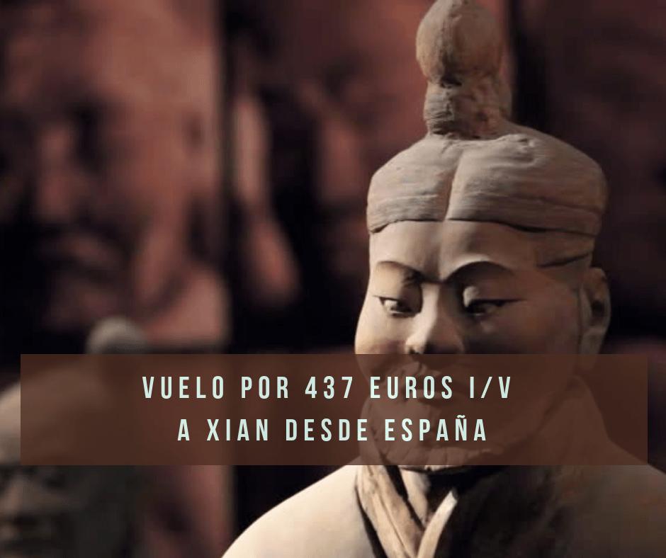 Vuelos de España a Xian – China por 437 € i/v