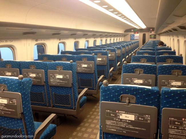 Shinkansen de 2ª Classe no Japão