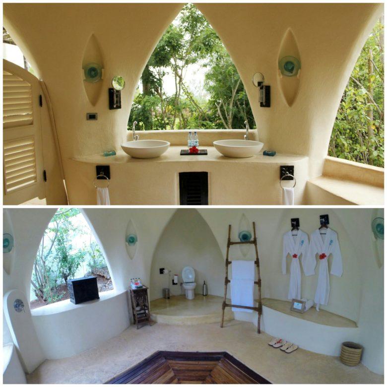 banheiro de hotel em Zanzibar