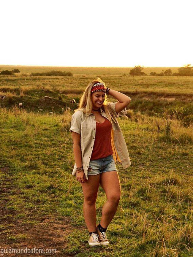 camisa de safari na África