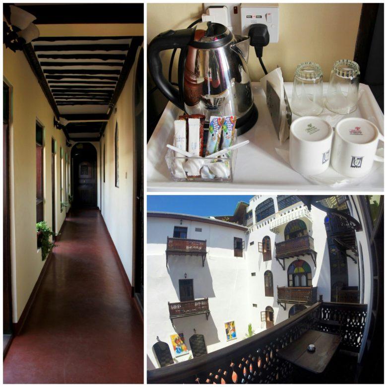 detalhes do quarto do Dhow Palace Hotel hospedagem em Stone Town