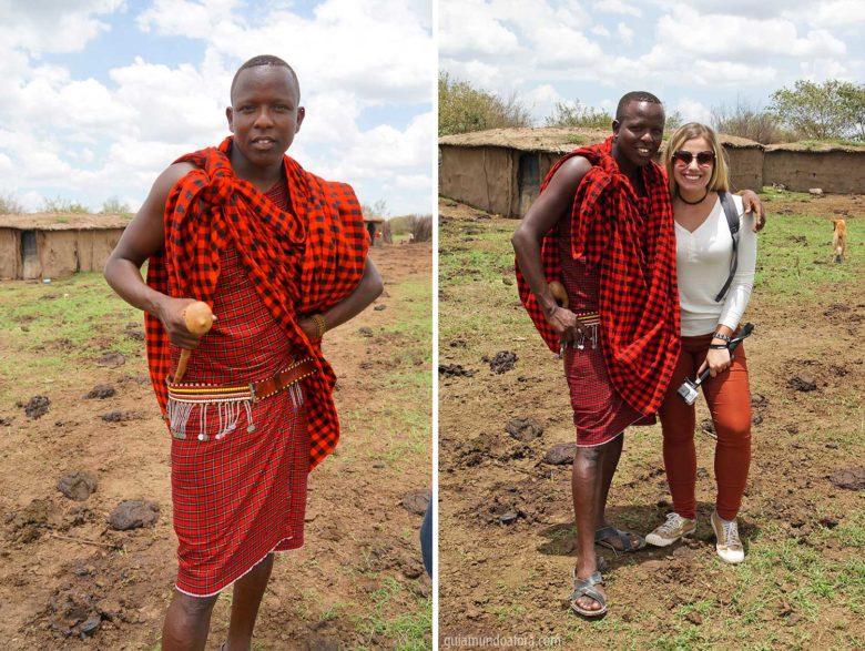 Tribo Masai em Masai Mara