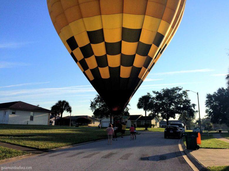 pouso de balão em Orlando