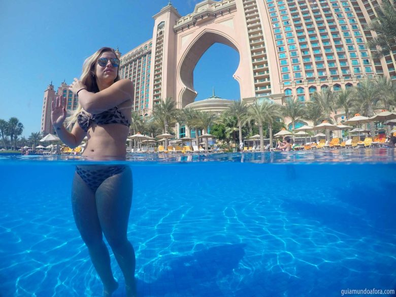piscina do Atlantis em Dubai