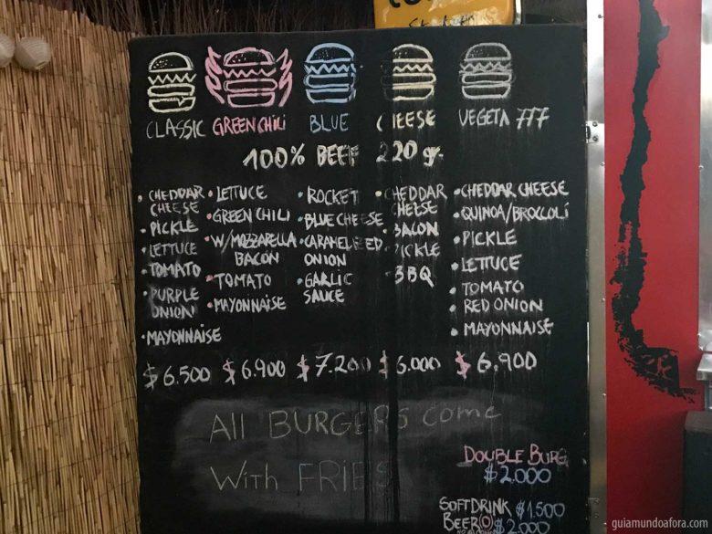Preços no Atacama de comida
