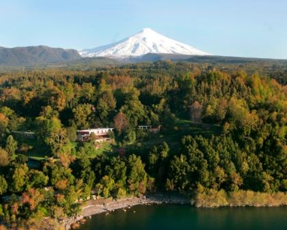 hotel antumalal, que experiências ao ar livre no Chile, com vulcão ao fundo