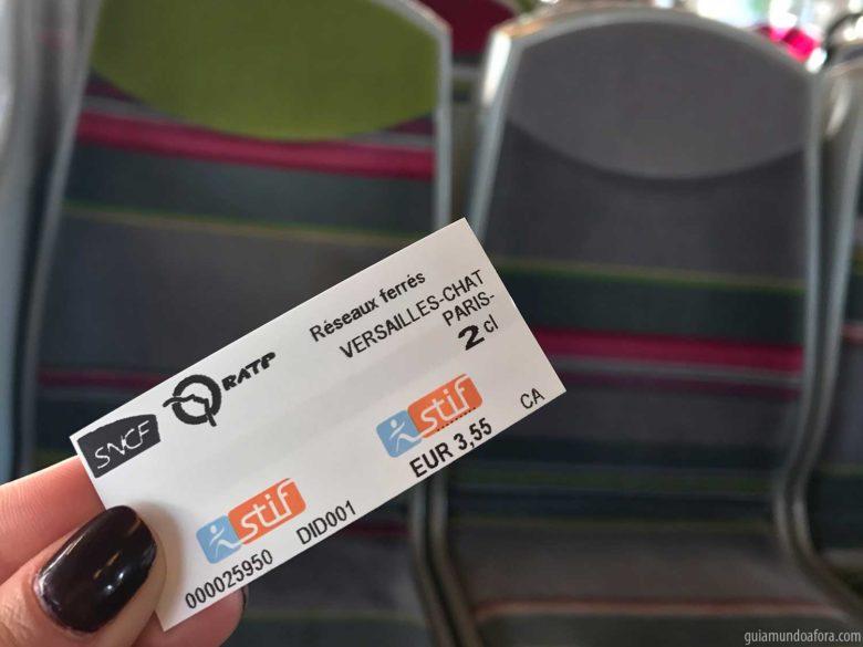 ticket de metrô em Paris