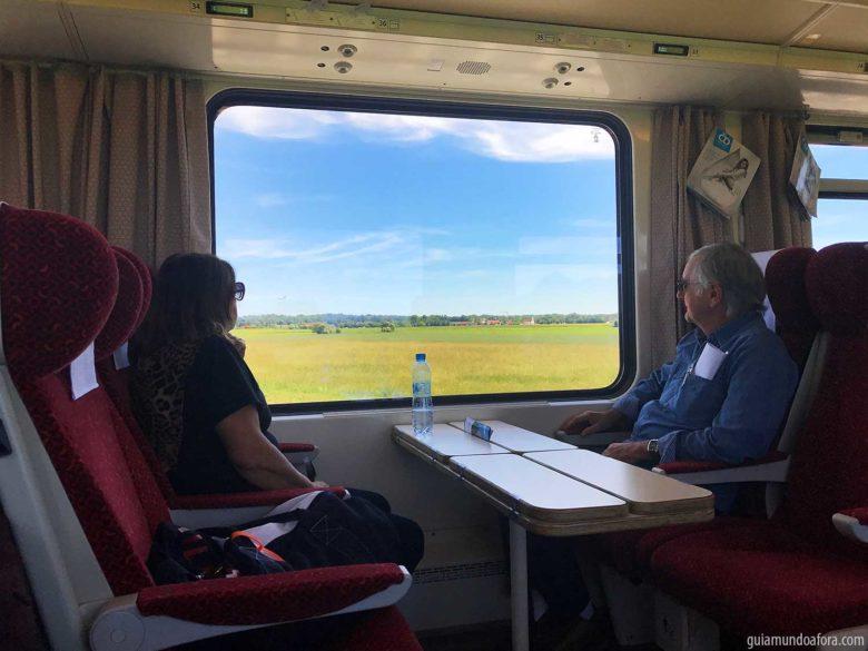 interior de trem na Eruopa
