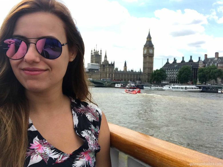 passeio do rio Tâmisa em Londres