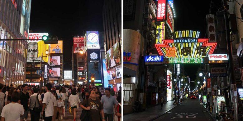 Dotonbori em Osaka no Japão