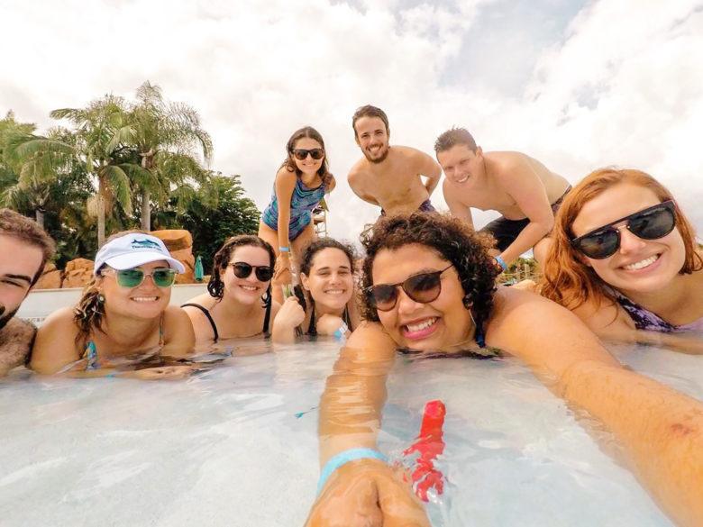 Piscina delícia do Aquatica do SeaWorld Orlando