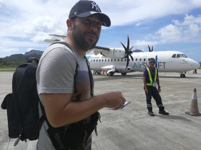 A Cebú tuvimos que llegar en avión desde Palawan.