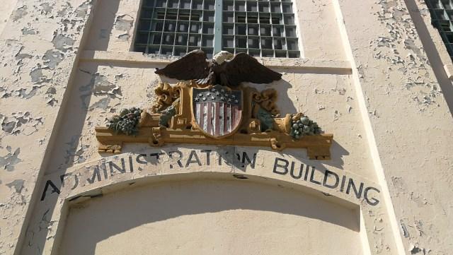 Edificio de administración de Alcatraz.