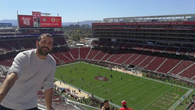 Selfie desde las gradas del Levi's Stadium de San Francisco.