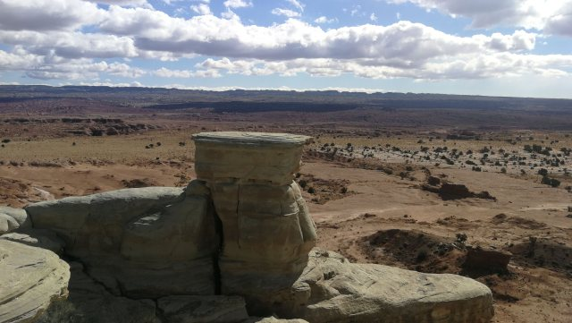 Sand Bench viewpoint. que ver en Arches National Park