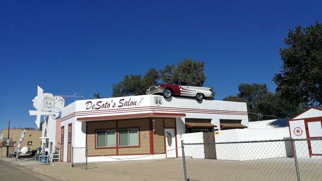 DeSoto's Salon, de camino a Kingman az