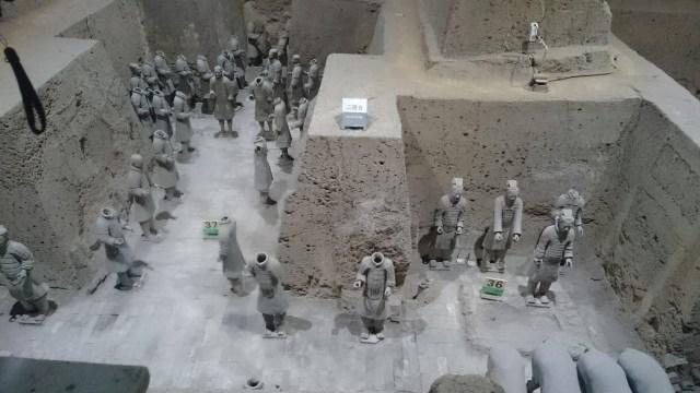 La Sala de mandos de los Guerreros de Terracota, en Xian.