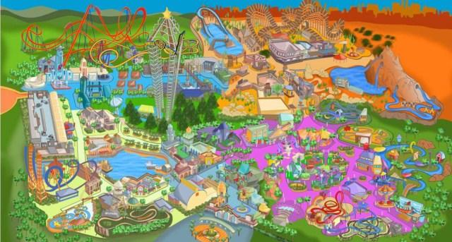 El parque Warner es muy compacto, por lo que ayuda a visitarlo con niños.