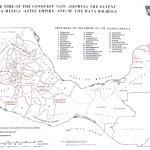 Mapa de México en la época de a Conquista