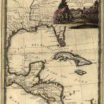 Mapa México, Luisiana y la Florida 1719