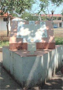 Placa en el Parque de Nicoya con el texto del acta de Anexión