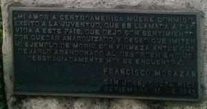 Busto de Francisco Morazán