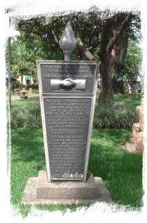 Placa en el Parque Morazán, San José
